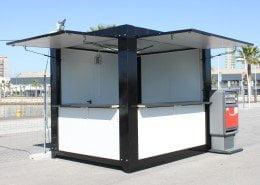 Caseta bar o kiosko de 3 x 2,4 metros
