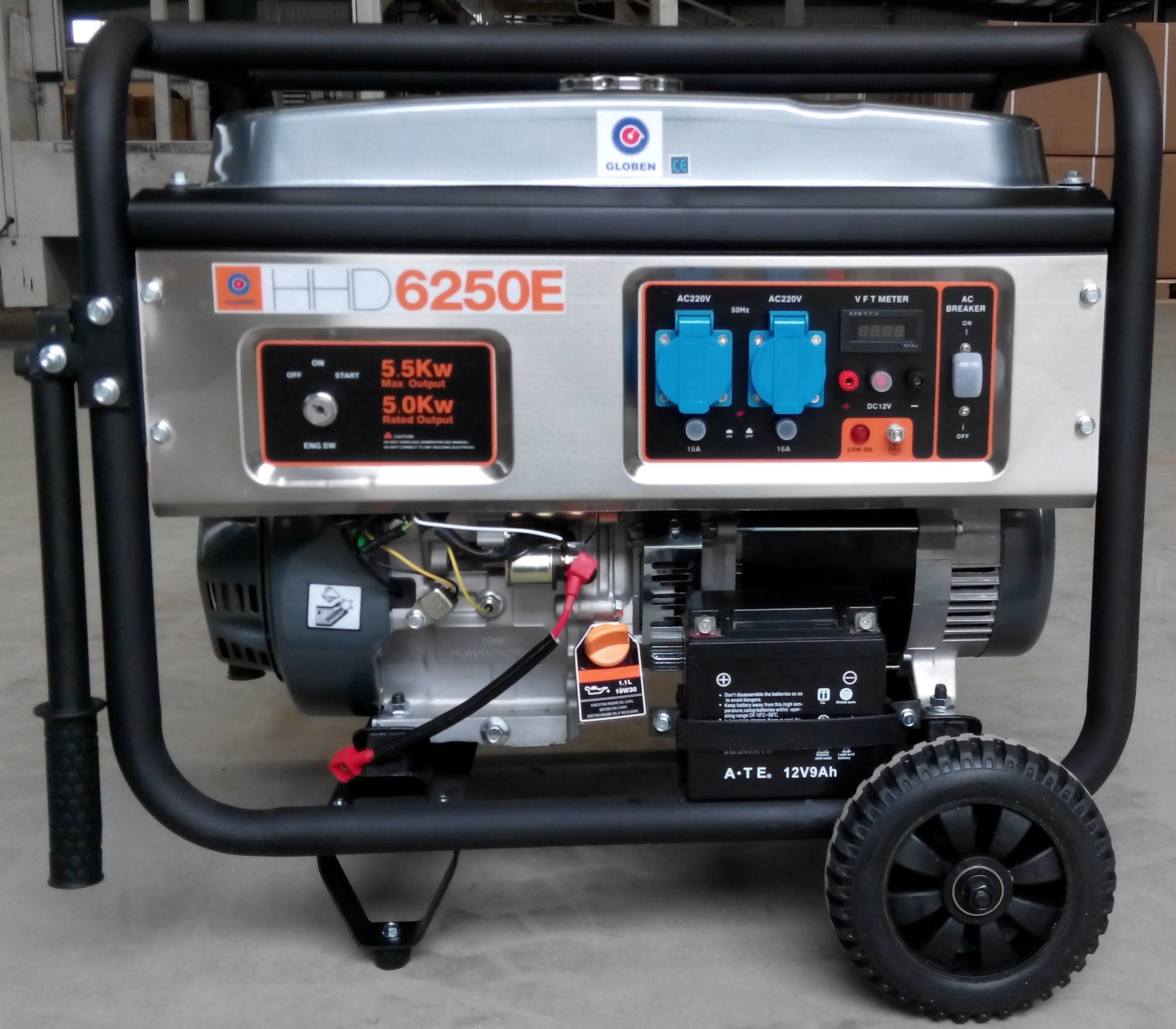 Generador gasolina HHD6250E