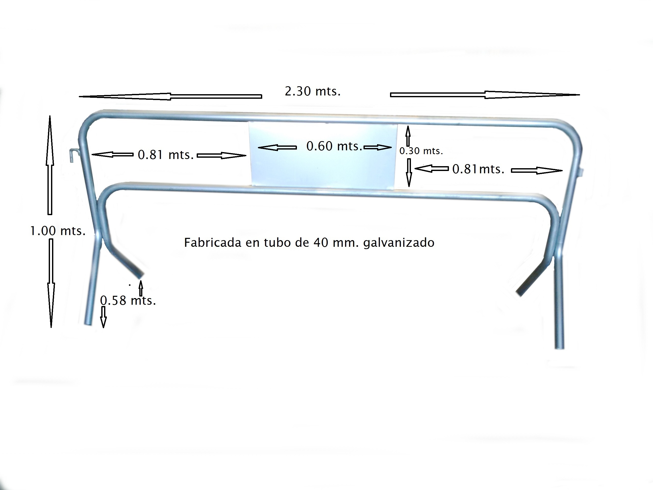 Valla simplex 2,3mx 1,0m