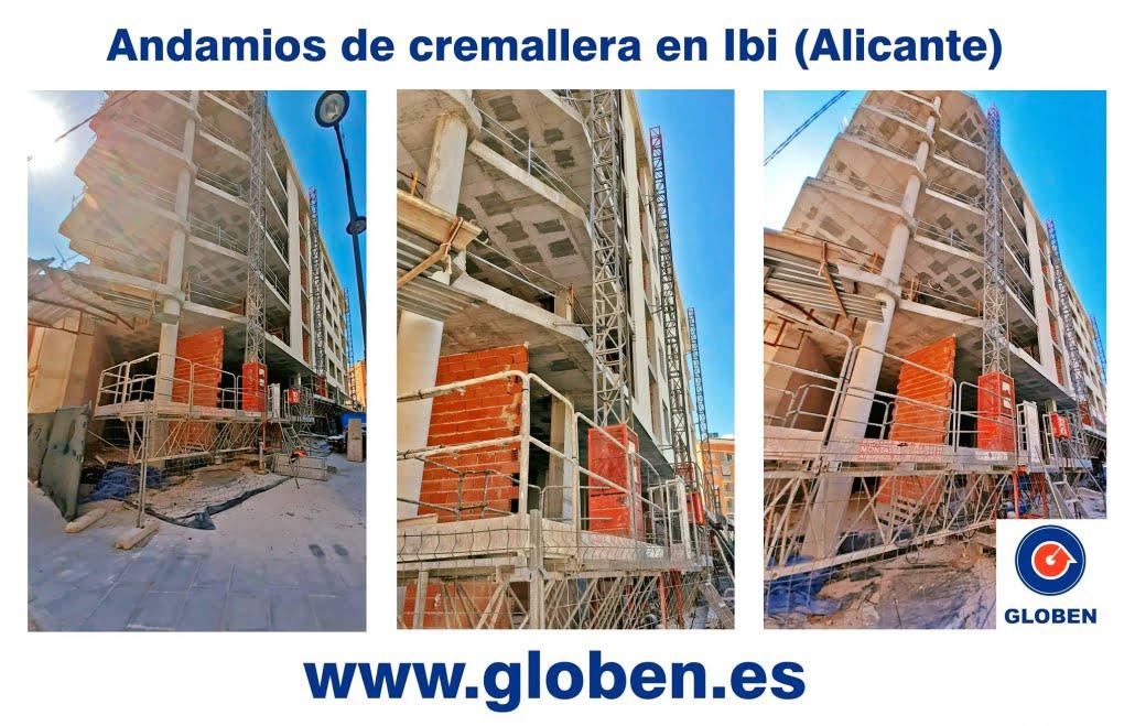 Andamios de cremallera en Ibi (Alicante)
