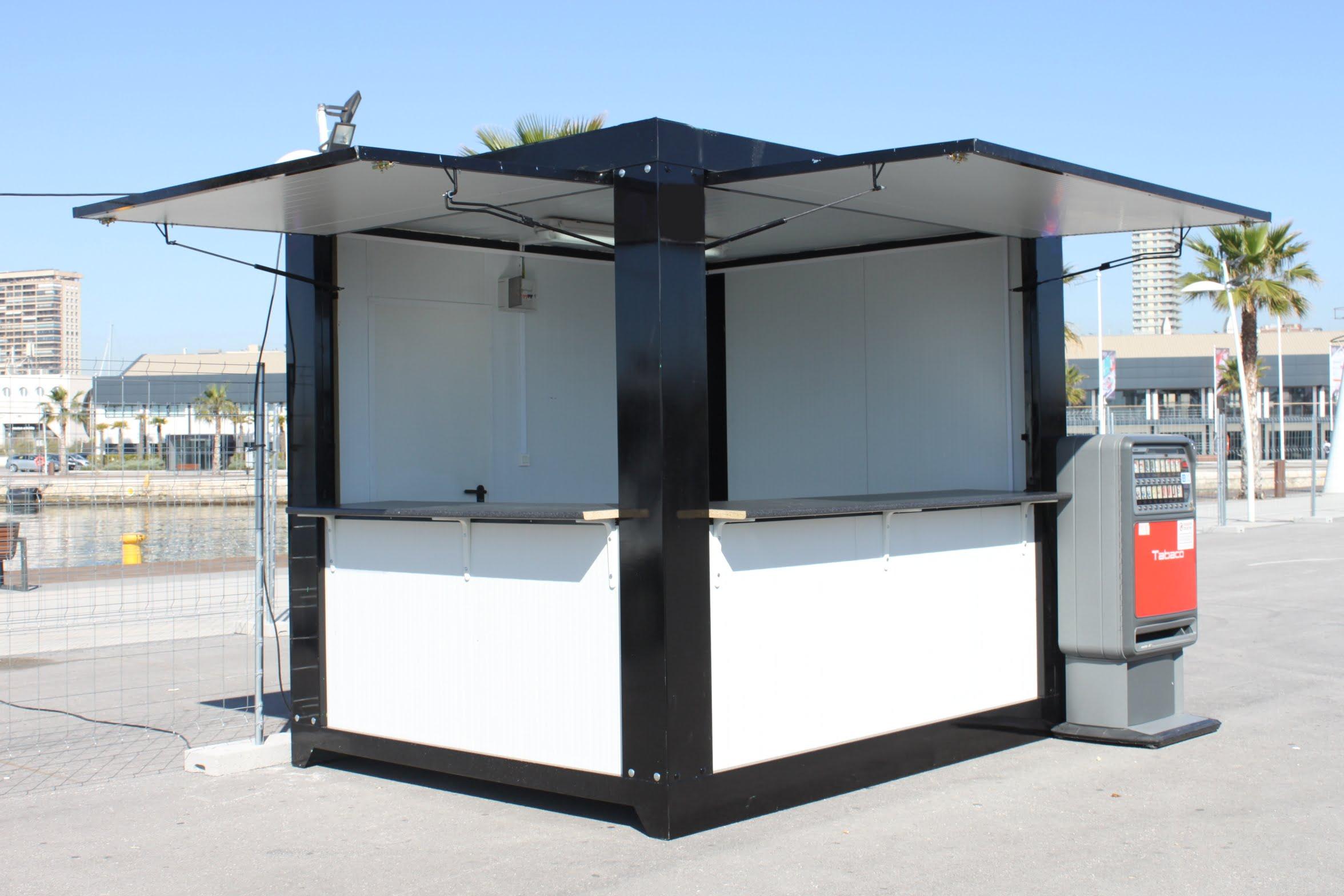 Caseta bar o kiosko 3 metros globen for Bar movil de madera
