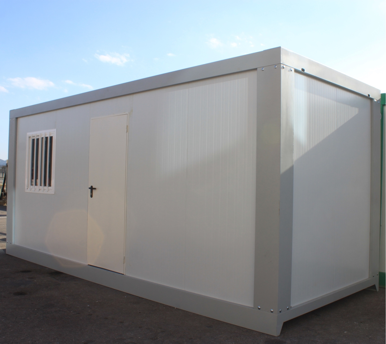 Caseta prefabricada di fana 6 metros globen for Casetas de almacenaje para jardin