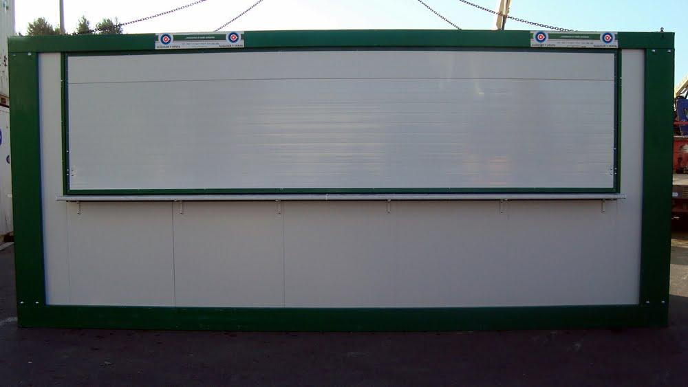 Caseta bar o kiosko de 6 x 2,4 metros
