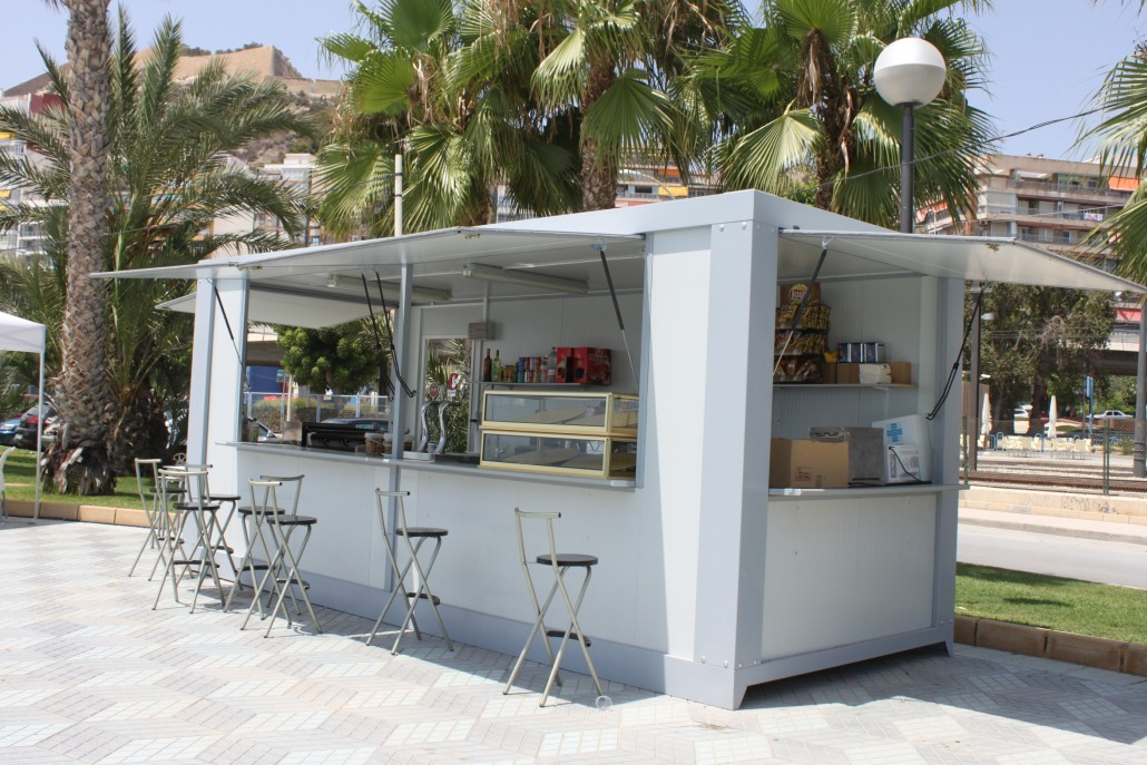 Caseta bar o kiosko 6 metros globen for Caseta de herramientas segunda mano